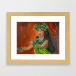 enter Stage Hula Framed Art Print