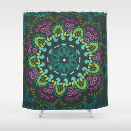 Jade and Jewel mandala- studio/dorm wall hanging tapestry Shower Curtain
