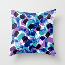 blue stains Throw Pillow
