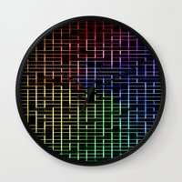labyrinth Wall Clocks featuring labyrinth by hannes cmarits (hannes61)