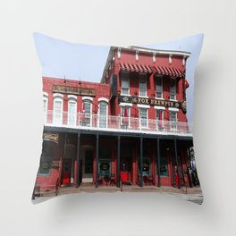 Brewpub in Carson City Throw Pillow