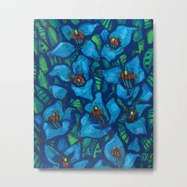 The Blue Puya Metal Print