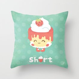 Strawberry Short Cake Throw Pillow