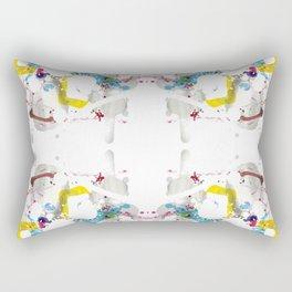 SYM 28 - mixed media symmetry Rectangular Pillow