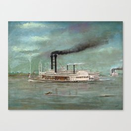 Steamboat Robert E. Lee Painting Canvas Print