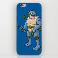ninja turtle iPhone & iPod Skins featuring Ninja Turtle Blastoise by peterstokesdesign