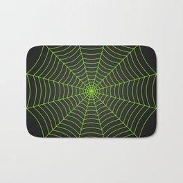 Neon green spider web Bath Mat