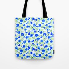 Floret (Blue) Tote Bag