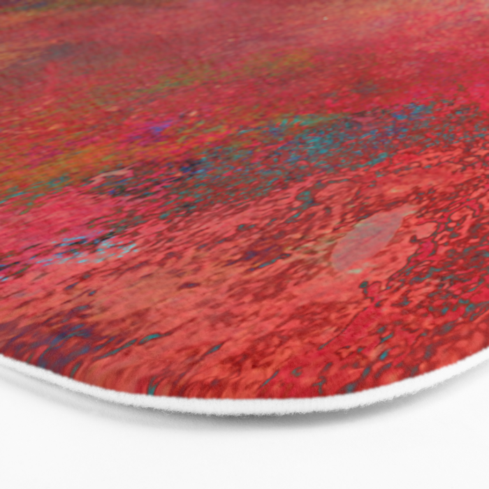 Love - Abstract, textured painting Bath Mat