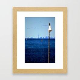 Sailing away Framed Art Print