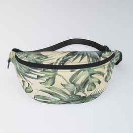 Palm Leaves Classic Linen Fanny Pack