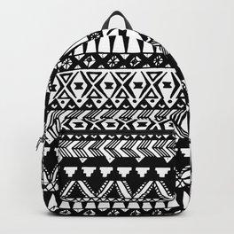 Black and White Hand Drawn Modern Tribal Aztec Backpack