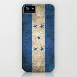 Old and Worn Distressed Vintage Flag of Honduras iPhone Case