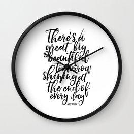 PRINTABLE Art, Quote,Kids Room Decor,Nursery Decor,Quote Prints,Typography Print Walt Wall Clock