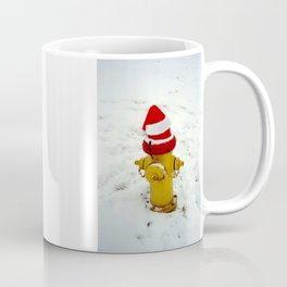 Santa Hat Fire Hydrant Coffee Mug