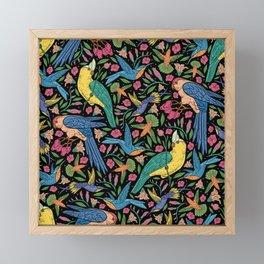 Parrots and Hummingbirds I Framed Mini Art Print