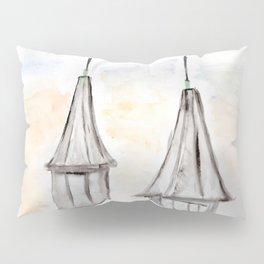 Twin Spires Churchill Downs Watercolor Art Louisville, Kentucky Pillow Sham