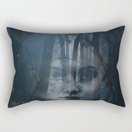 Portrait in the forest Rectangular Pillow