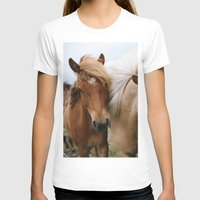 iceland T-shirts featuring Iceland Horses by LUKE/MALLORY