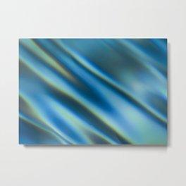 Blue Water Ripples Metal Print