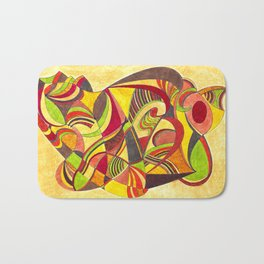 waves in warm colors Bath Mat