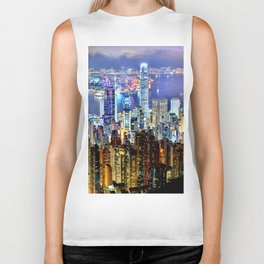 Hong Kong City Skyline Biker Tank