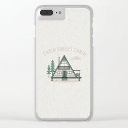 Cabin Sweet Cabin Clear iPhone Case