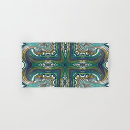 Celtic Cross - Abstract Art by Fluid Nature Hand & Bath Towel