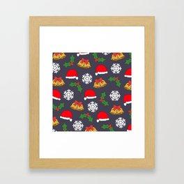 Jingle Bells Christmas Collage Framed Art Print