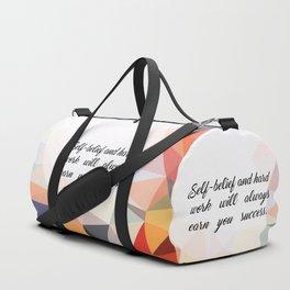 "Self belief and... ""Virat Kohli"" Inspirational Quote Duffle Bag"
