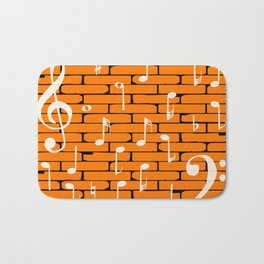 Music Wall Background Bath Mat