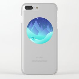 Night Fox Clear iPhone Case