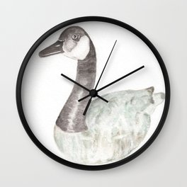 Ceramic Goose II Wall Clock