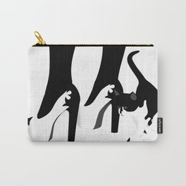 Black and White Kitten with Heels Carry-All Pouch