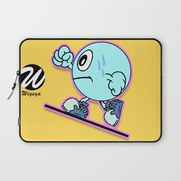 Uphill Runner Cartoon Character Laptop Sleeve
