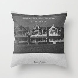 Haunted Beach Houses Throw Pillow