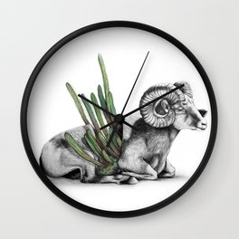 Bighorn Ram Wall Clock