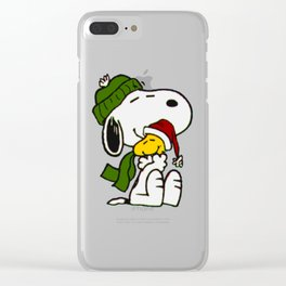 Christmas snoopy Clear iPhone Case