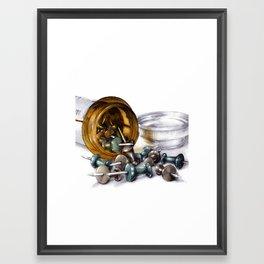 poppin pins Framed Art Print