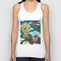 hot air balloons Tank Tops featuring Hot Air Balloons I by minouette