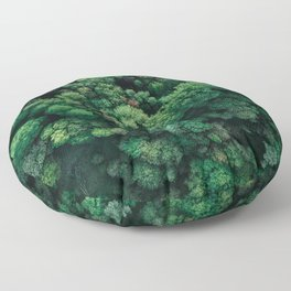 Trees from above | Forest fine art photography | Aerial drone photo print Floor Pillow