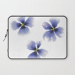 Pretty Purple Pansies in watercolor Laptop Sleeve