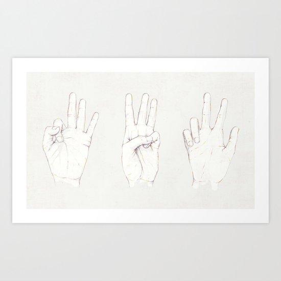 Three Threes Art Print