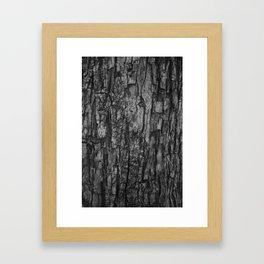 Bark VI Monochrome Framed Art Print