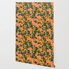 Lemon and Leaf Wallpaper