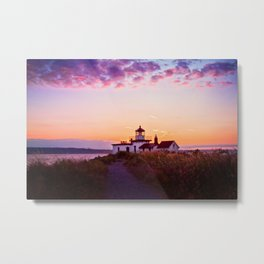 Discovery Park Lighthouse at sunset Metal Print