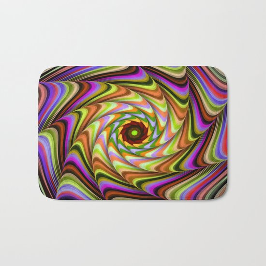 Colourful psychedelic motion Bath Mat