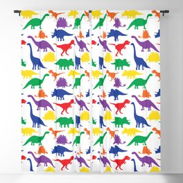 Dinosaurs - White Blackout Curtain