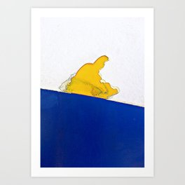 The Sledder Art Print