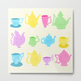 Mad Tea Party Metal Print
